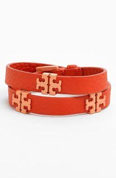 Tory Burch 'Mini T' Leather Wrap Bracelet on shopstyle.com
