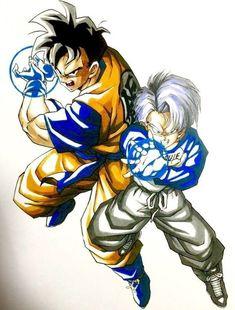 Mirai gohan and Mirai Trunks Dragon Ball Z, Dragon Ball Image, Dbz, Akira, Manga Art, Anime Manga, Ball Drawing, Pokemon, Nerd Art