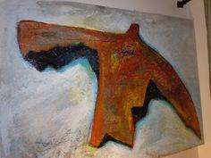 "James Feely, ""Flight"", mixed media painting, 28"" x 40"" on ArtStack #james-feely #art"