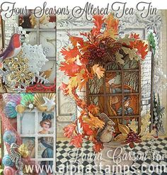 Alpha Stamps News » Four Seasons Altered Tea Tin Tutorial by Laura Carson