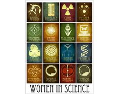 Women in Science LARGE Print 30x40 Inspirational Art. Inspire
