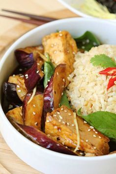 Crispy fried succulent eggplant tofu with spicy black bean sauce. Crispy on the outside while soft and juicy inside.