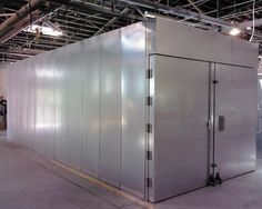 An 8' x 8' x 25' powder coating oven from Reliant Finishing Systems