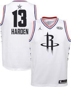 57dca7a7f Jordan Youth 2019 NBA All-Star Game James Harden White Dri-FIT Swingman  Jersey