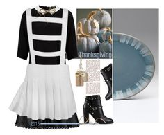 """""""Modern-Day Pilgrim."""" by s-elle ❤ liked on Polyvore featuring Lipsy, Denby, Valentino, Tag, modern, contest, contestentry, thanksgiving and unconventional"""