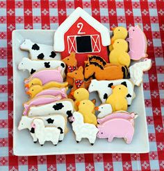 lulu blue: Farm Birthday Party