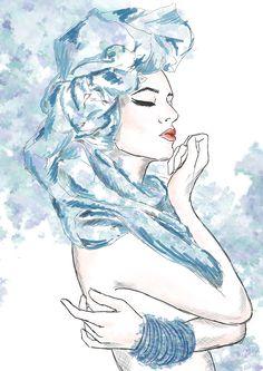 #beauty #fashion #model #art #illustration #body #makeup #skech #concept # artistic