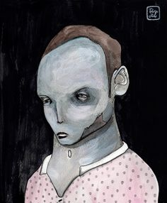 Calaveras  Ilustración por Bran Sólo Retrato masculino