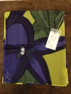 Hand painted silk scarf by Katherine Louise Textiles.