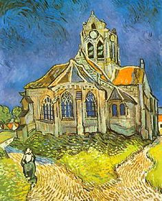 Vincent VanGogh - The Church at Auvers.