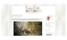 Finley Ruth - Premade Blogger Template Design. $20.00, via Etsy.