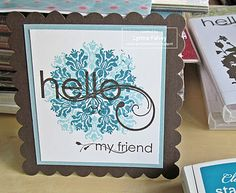 Stampin Up Demonstrator - Lynne Fahey (Spiralz and Curlz): Hello - my friend... Stampin' Up's Spring Mini Catalogue