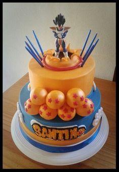 deco gateau dragon ball z 12th Birthday Cake, Dragon Birthday, Ball Birthday, Dragon Party, Goku Birthday, Pretty Cakes, Beautiful Cakes, Amazing Cakes, Cupcakes