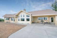 Looking from the property back to the rear of the home. Designed and built by Quail Homes of Vancouver Washington.