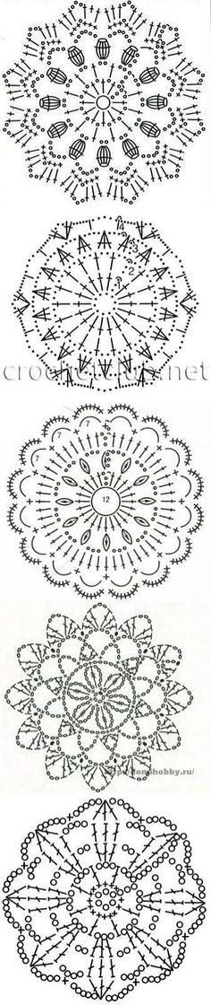 40 New Ideas For Crochet Decoracion Patrones Hogar Crochet Snowflake Pattern, Crochet Doily Diagram, Crochet Diy, Crochet Stars, Crochet Circles, Crochet Motif Patterns, Crochet Snowflakes, Crochet Blocks, Crochet Round