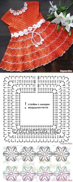 . Платье крючком. Ещё один хвастик - Вязание - Страна Мам