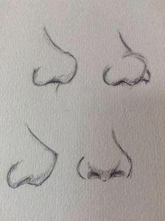 Aprende Como Dibujar una Nariz Realista con estos Consejos - Dibujos de Gabriel Art Drawings Sketches Simple, Pencil Art Drawings, Drawing Tips, Cute Drawings, Drawing Faces, Drawing Drawing, Drawing Practice, Nose Drawing Easy, Good Drawing Ideas
