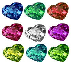 """Shiny Heart Crystal Set Vectors done in via Illustrator. Created it as practice using tools in the software. It's also a """"Free to Use but Credit Back"""" Resource. Vector Art, Vectors, Illustrator, Software, Photoshop, Deviantart, Tools, Crystals, Create"""