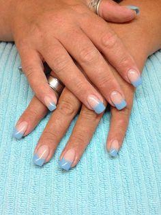 April showers chameleon gel nails, when cool they turn a pastel purple