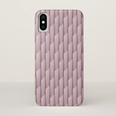 Light Shades of Purple Geometric Abstract Stripes iPhone X Case - light gifts template style unique special diy