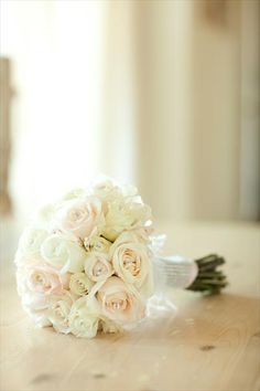 pale rose bouquet - roses are so romantic.
