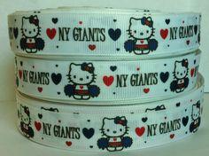 5 Yards New York Giants Printed Grosgrain Ribbon by RibbonsForLess