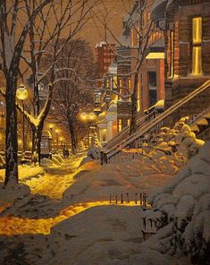 Atemberaubende Richard Savoie ist ein in Moncton New Brunswick geborener Zeichner aus Quebec. Stunning Richard Savoie is a Quebec-born cartoonist born in Moncton New Brunswick. Winter Art, Winter Snow, Quebec, Foto Gif, Winter Scenery, Snow Scenes, Christmas Scenes, Winter Wonder, Winter Landscape