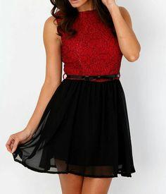 Rojo delgado y negro