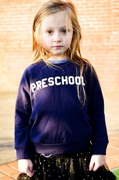 "Kids ""Preschool"" Pullover Sweatshirt By Hatch For Kids"