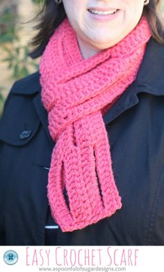 Easy Spiral Scarf Crochet Pattern | usually crochet myself a new scarf it is so relaxing to crochet ...