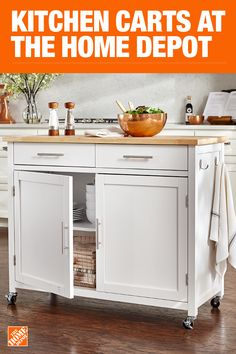The Home Depot has everything you need for your home improvement projects. Click through to learn more about our storage and organization offerings. Home Depot Kitchen, Kitchen Cabinets Decor, Kitchen Cart, Diy Kitchen, Kitchen Storage, Kitchen Dining, Kitchen Island, Studio Apartment Living, Interior Desing