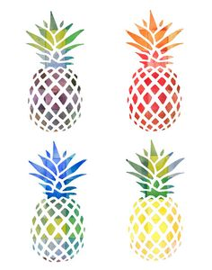 Watercolor Pineapple 8x10 Printable  Instant by HaveALaugh on Etsy