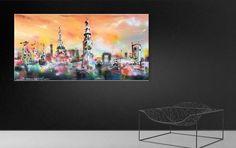"""Mysterious Town"" 80 x 160 cm / 31"" x 62"" By Erik Zwezerijnen feel free to visit www.erikzwezerijnen.com Mysterious, Mystery, Feelings, Painting, Free, Kunst, Painting Art, Paintings, Painted Canvas"