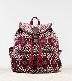 brocade tassel backpack