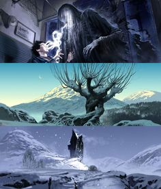 Harry Potter Film Concept Art by Adam Brockbank