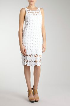 Outstanding Crochet: Crochet white dress from Jane Norman.