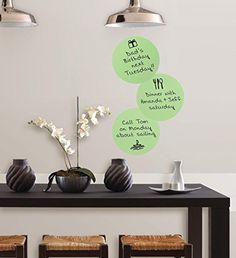 $4.19  - Iuhan 3PCS DIY Peel Stick Calypso DryErase Dots Home Decors with Marker Green -- Be sure to check out this awesome product. (This is an affiliate link) #WallStickersMurals