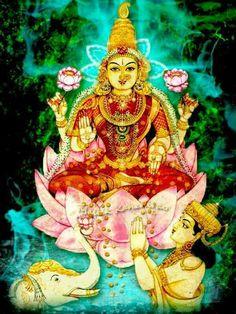 Indra Worshiping Laxmi