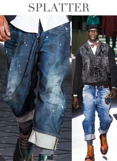 TREND COUNCIL #DENIM TRENDS-SPLATTER