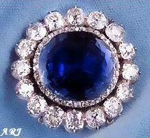 Sapphire and Diamond Brooch of the Leuchtenberg Sapphire Parure