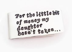 Personalized Money Clip Gift from Daughter Father by RobertaValle