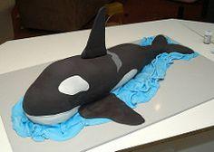 How to make an Orca Killer Whale Cake 18