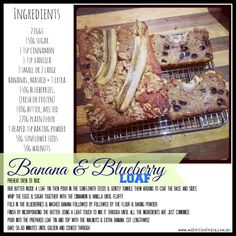 Banana & Blueberry Loaf #lunchboxideas Will try substituting with dextrose / rice malt syrup  instead of sugar.