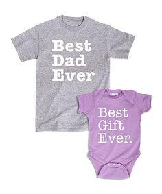 Loving this 'Best Dad Ever' & 'Best Gift Ever' Dad & Child Set on #zulily! #zulilyfinds