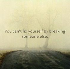 You can't fix yourself by breaking someone else. Let them go and stop blaming.....stop hurting the other person with your bitterness. You are SO blessed and robbed him blind....time to move on