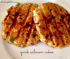 Need a quick dinner? These salmon cakes are super simple and simply delicious! Serve on a bun or over mixed greens.
