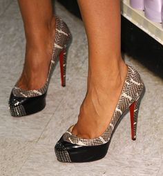 This mega model has made a name for herself as a media mogul. Wearing heels by this iconic French shoe designer only heightens her status. Who's the model in these heels? | And the designer behind this French footwear