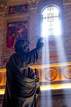 St Peter at the Basilica of Saint Paul Outside the Walls (Rome).   Love this Basilica so much