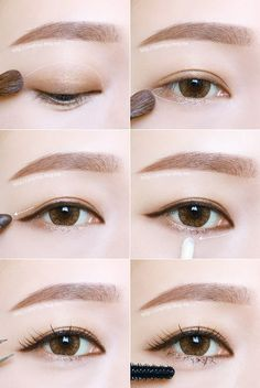 Korean Eye Makeup Tutorial (credits to: ziny1130.blog.me)