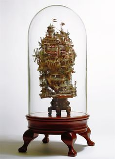Outstanding Fantasy Towns Under the Hood by Takanori Aiby, a Miniature Art (7)